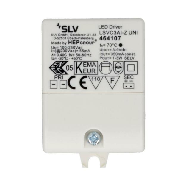 Zugentlastung SLV LED-Treiber 350mA inkl 3VA