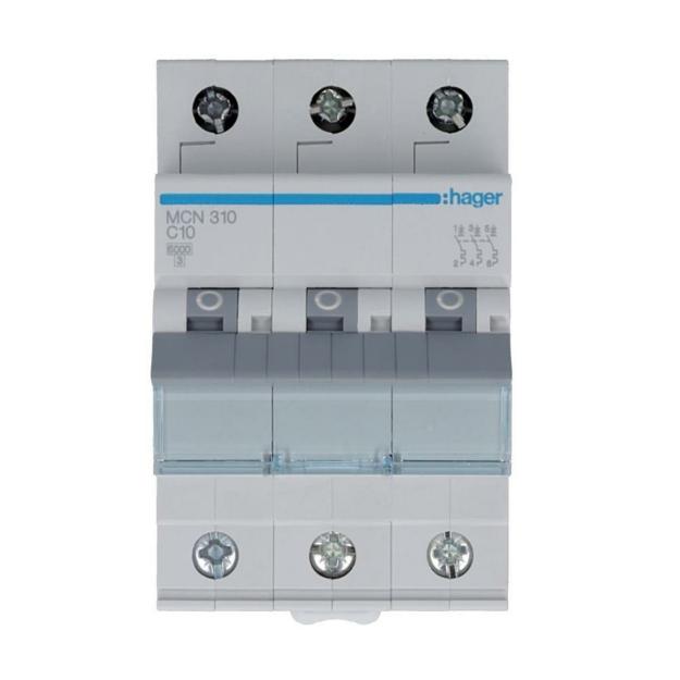 Hager MCN310 LS-Schalter 3P 6kA C-10A 3M