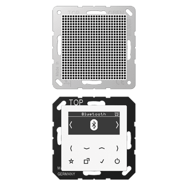 Jung DABA1BTWW Smart Radio DAB+ mit Bluetooth-Set Mono...