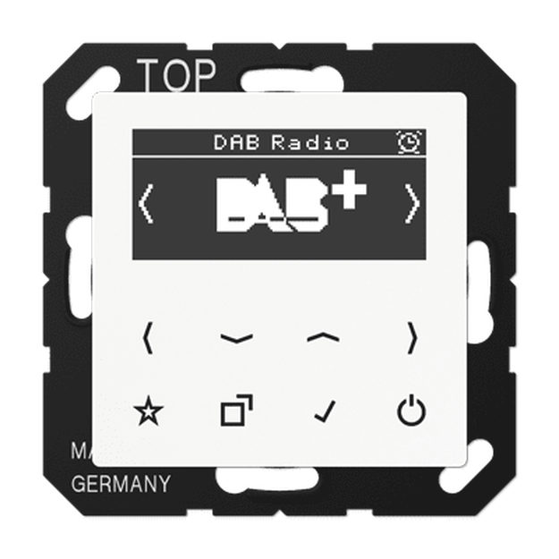 Jung DABA1WW Smart Radio DAB+ Set Mono Alpinweiß Serie A / AS