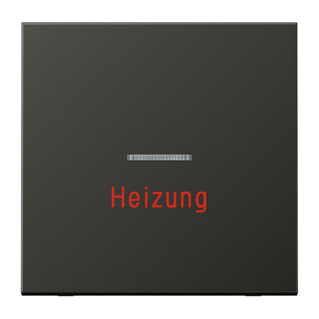 Jung AL2990HAN Wippe Heizung (lackiertes Aluminium) Anthrazit Serie LS