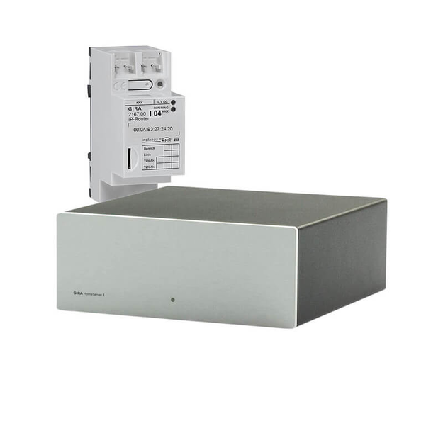 Bundle: Gira 052900 Gira HomeServer 4 Gira Server & Gira 216700 KNX IP-Router KNX REG